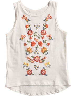 Shyanne Toddler Girls' Floral Puff Applique Tank Top , White, hi-res