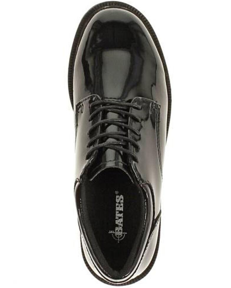 Bates Women's High Gloss Duty Oxford Shoes, Black, hi-res
