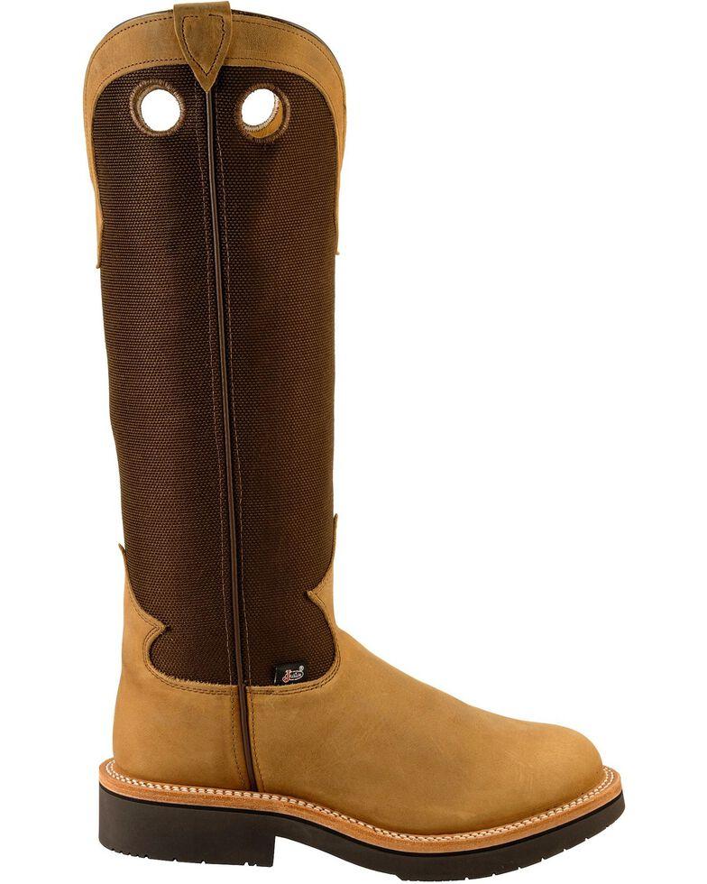 "Justin Men's 17"" Traction Snake Boots, Dune, hi-res"