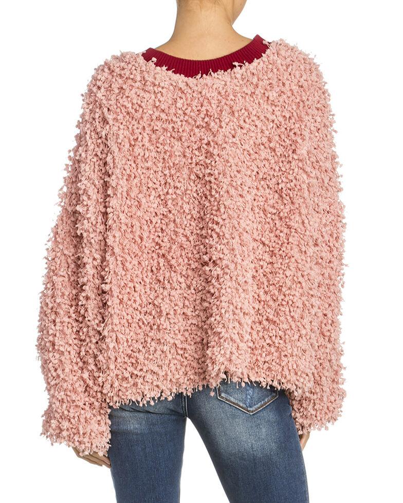 Miss Me Women's Blush Contrast Sweater , Light Pink, hi-res