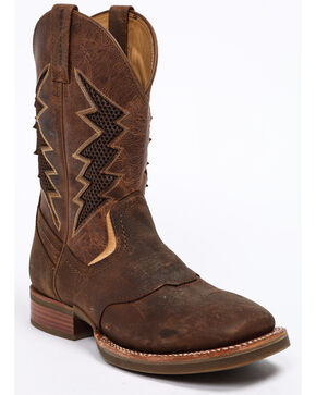 Cody James Men's Xtreme Lightning Western Work Boots - Round Toe, Brown, hi-res