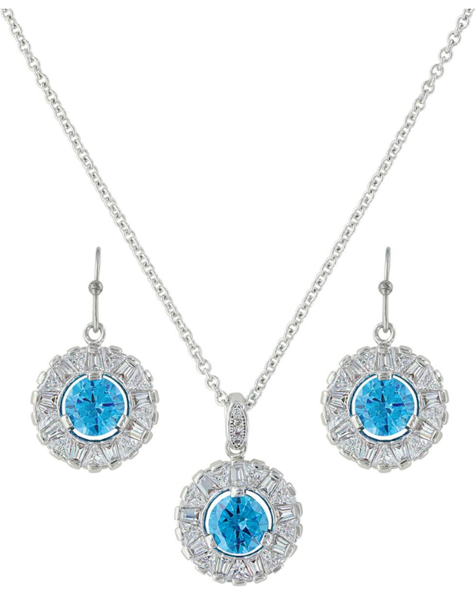 Montana Silversmiths Women's Hot Summer Days Halo Jewelry Set , Silver, hi-res