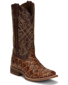 Nocona Men's Bryce Maple Western Boots - Wide Square Toe, Brown, hi-res