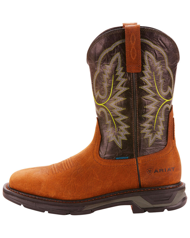 123a2a8e027 Ariat Men's Brown Workhog XT H20 Boots - Wide Square Toe