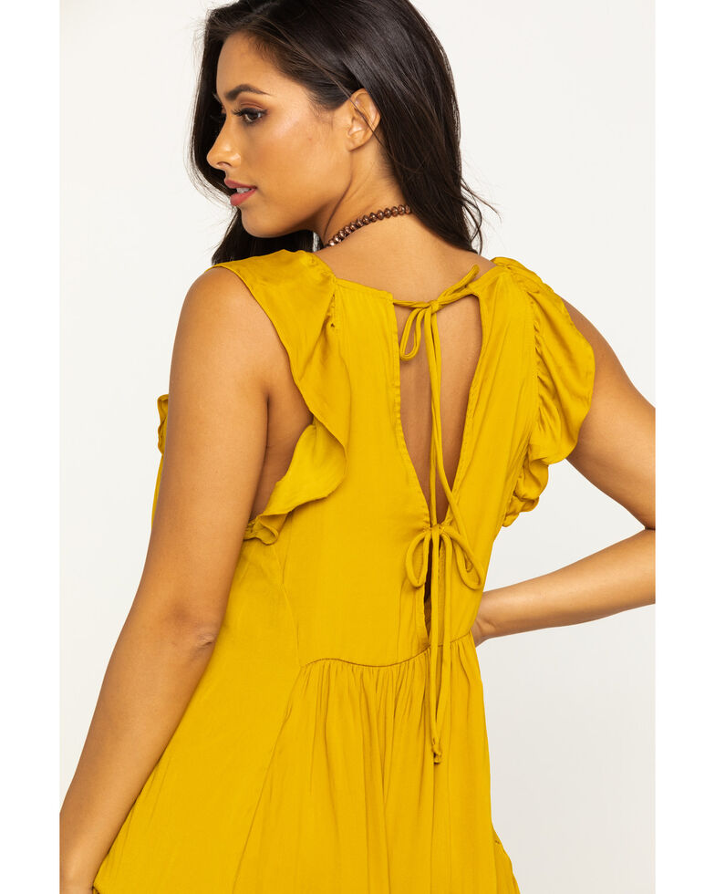 Free People Women's Want Your Love Mini Dress, Dark Yellow, hi-res
