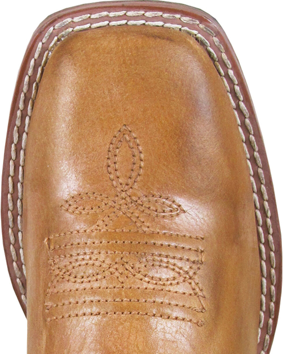 Smoky Mountain Youth Boys' Frank Western Boots - Square Toe , Brown, hi-res