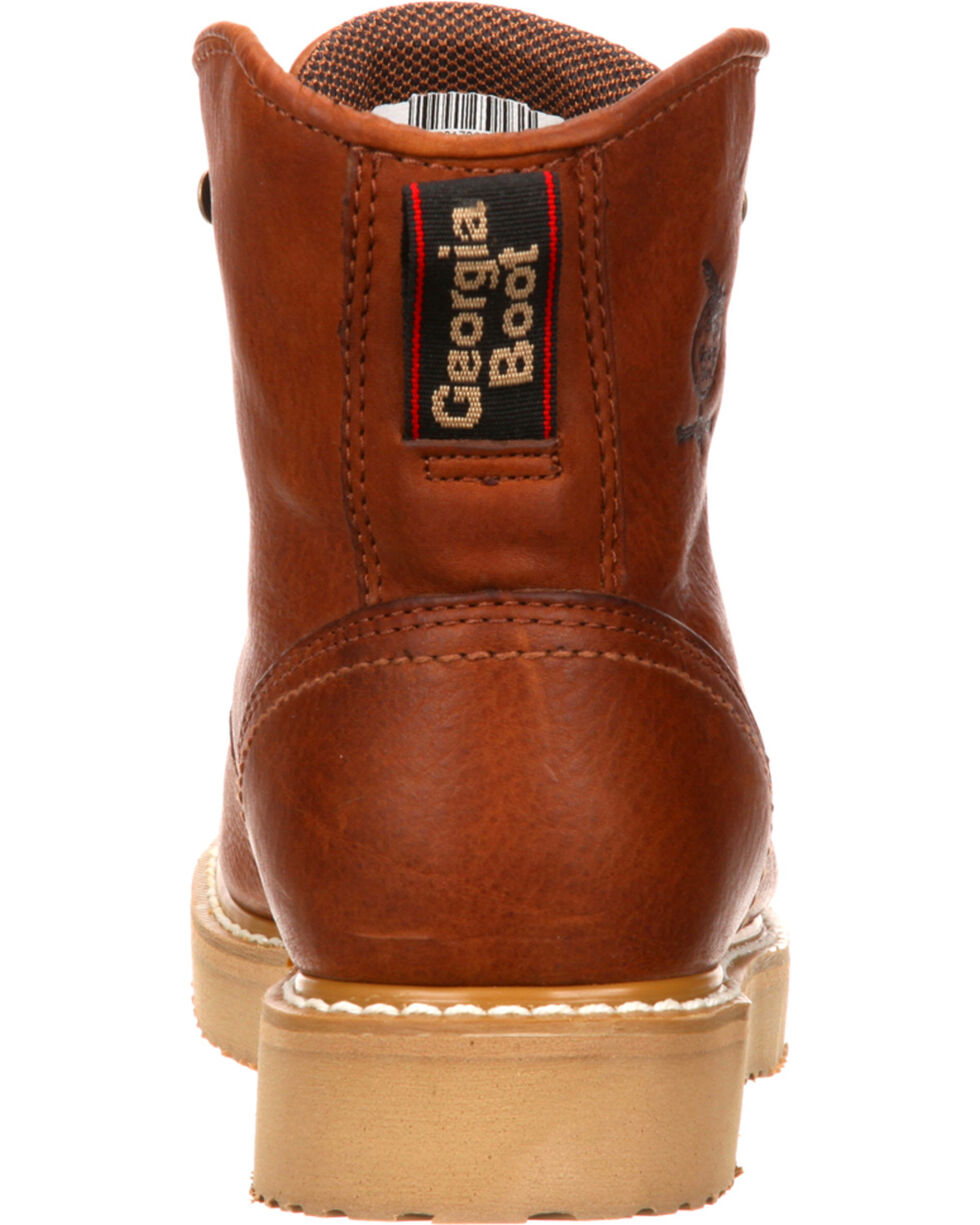 "Georgia Men's Steel Toe Wedge 6"" Work Boots, Brown, hi-res"