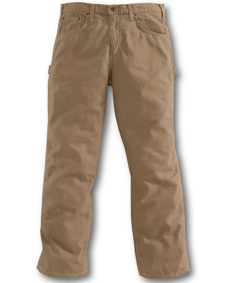 Carhartt Men's Loose Fit Canvas Carpenter Jeans, Mushroom, hi-res