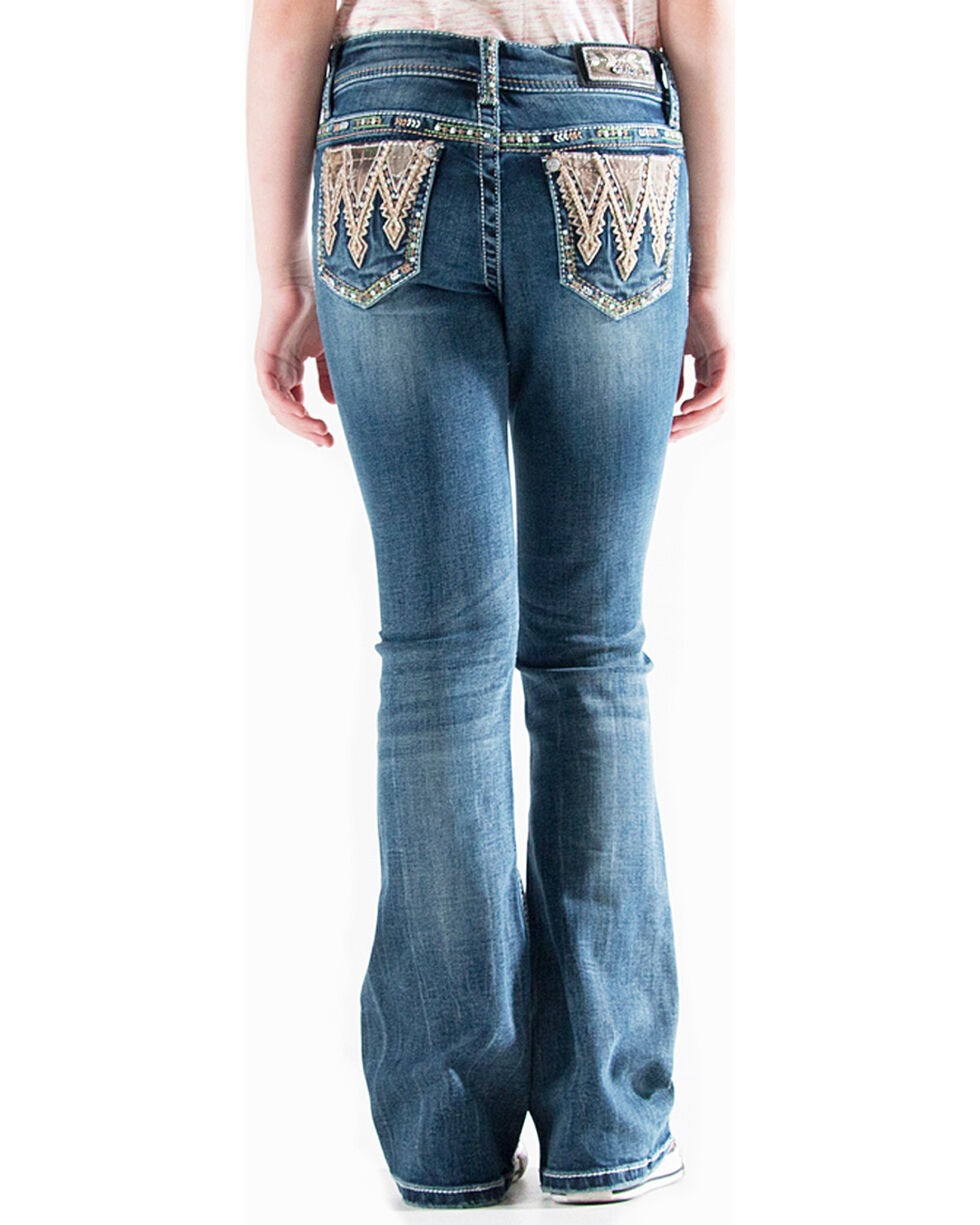 Grace in LA Girls' (7-16) Realtree Embroidered Jeans - Boot Cut , , hi-res