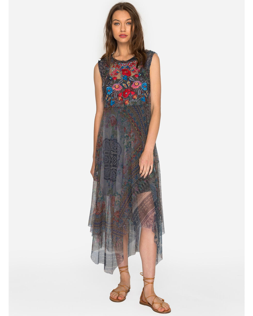 Johnny Was Women's Burnette Mesh Dress , Multi, hi-res