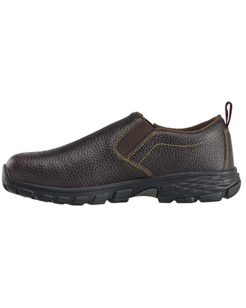 Avenger Men's Flight Brown Waterproof Work Shoes - Alloy Toe, Brown, hi-res
