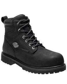 Harley Davidson Men's Gavern Waterproof Work Boots - Soft Toe, Black, hi-res