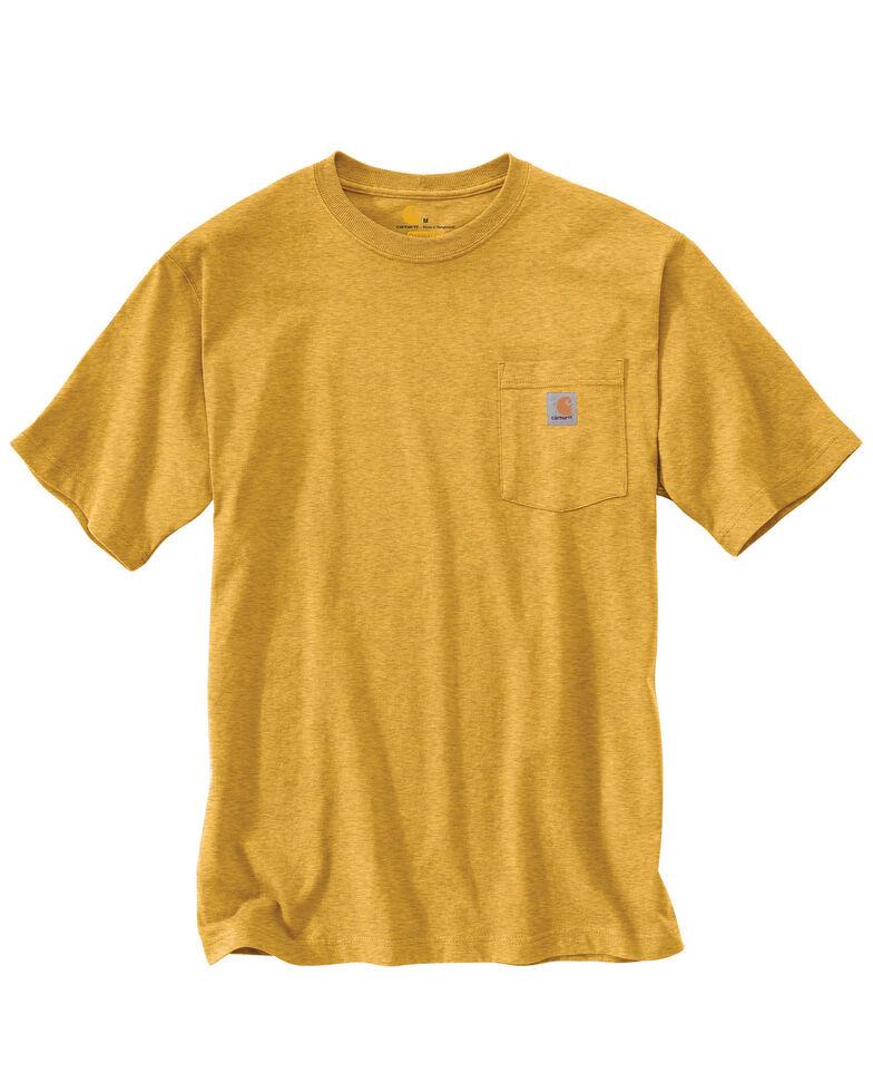 Carhartt Men's Solid Short Sleeve Pocket Work T-Shirt - Big & Tall, Gold, hi-res