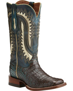 Ariat Women's Silverado Caiman Exotic Boots, Dark Brown, hi-res