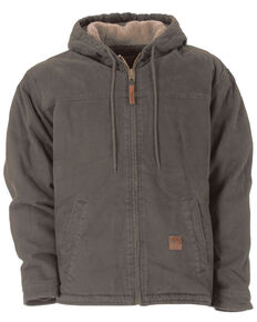 Berne Washed Hooded Work Coat, Grey, hi-res