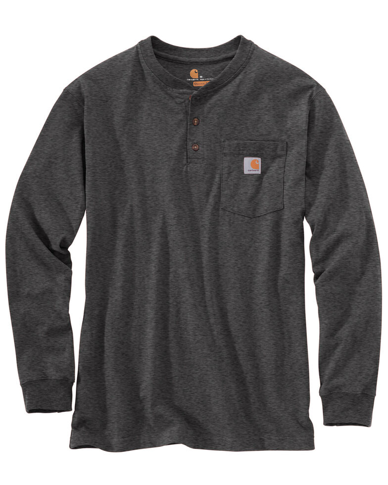 Carhartt Men's Workwear Henley Long Sleeve Shirt, Medium Grey, hi-res