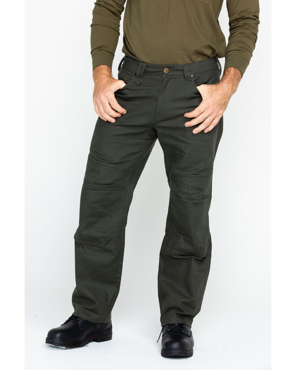 Hawx® Men's Stretch Canvas Utility Work Pants , Moss Green, hi-res