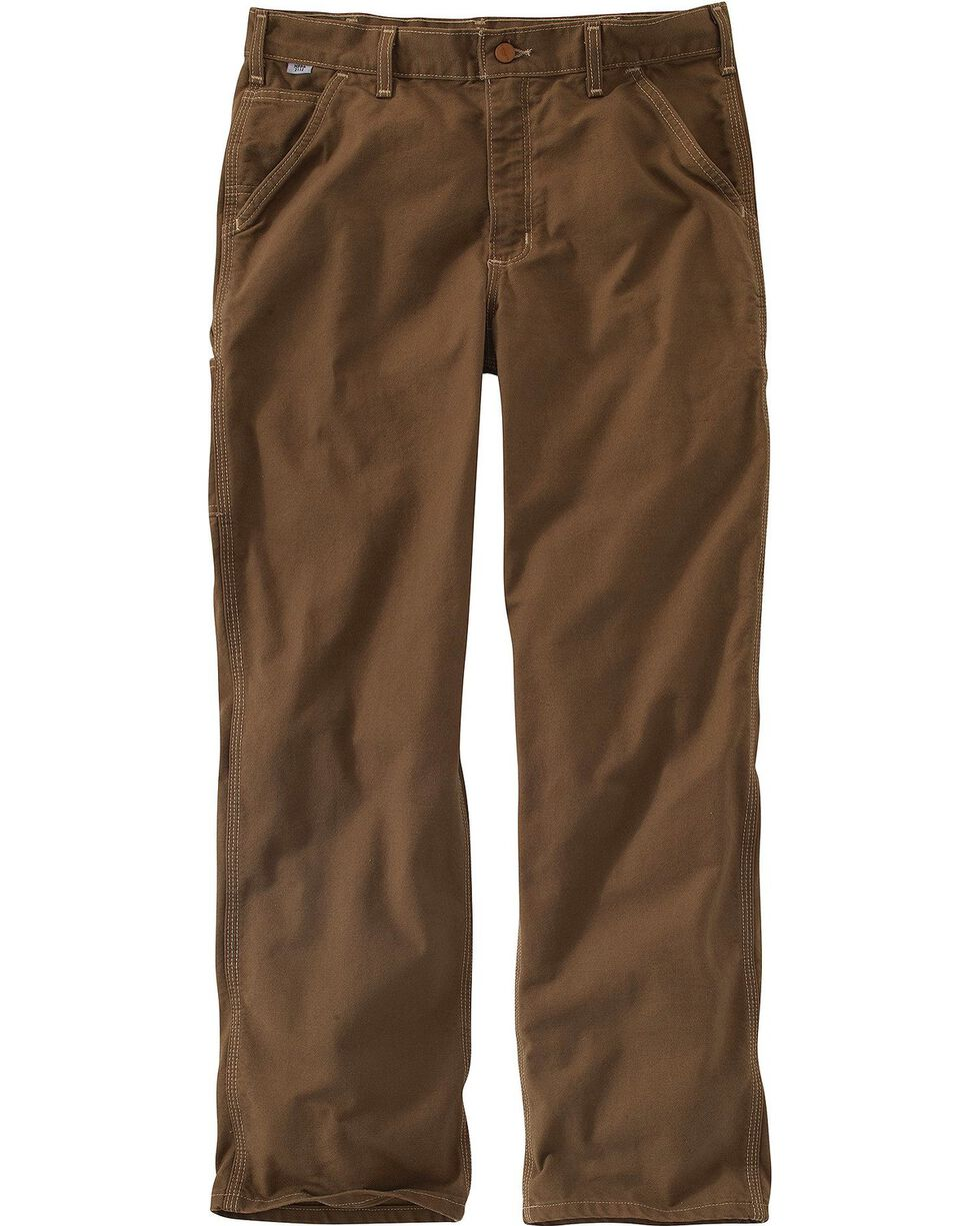 Carhartt Men's Flame Resistant Washed Duck Dungaree, Brown, hi-res