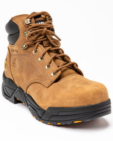Hawx Men's Enforcer Lace-Up Work Boots - Composite Toe, Brown, hi-res