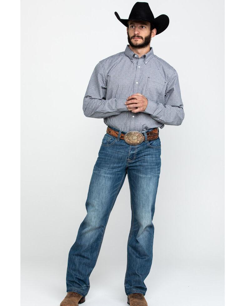 Cody James Core Men's Stonewall Small Plaid Long Sleeve Western Shirt , Grey, hi-res