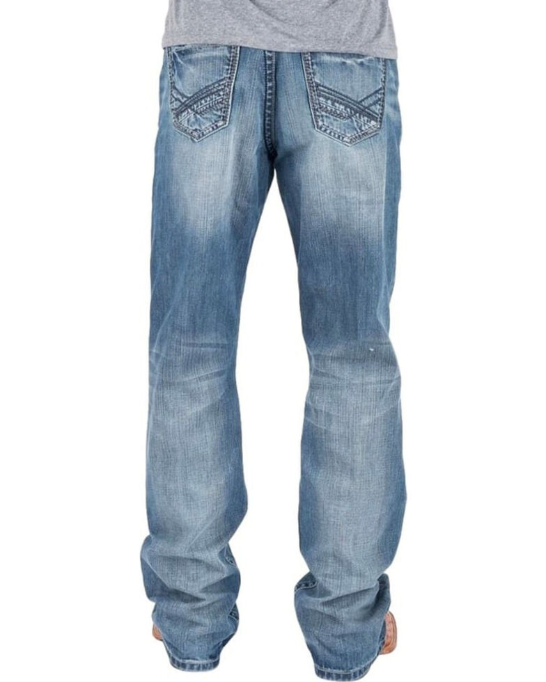 Tin Haul Men's Regular Joe Fit Light Wash Bootcut Jeans , Indigo, hi-res