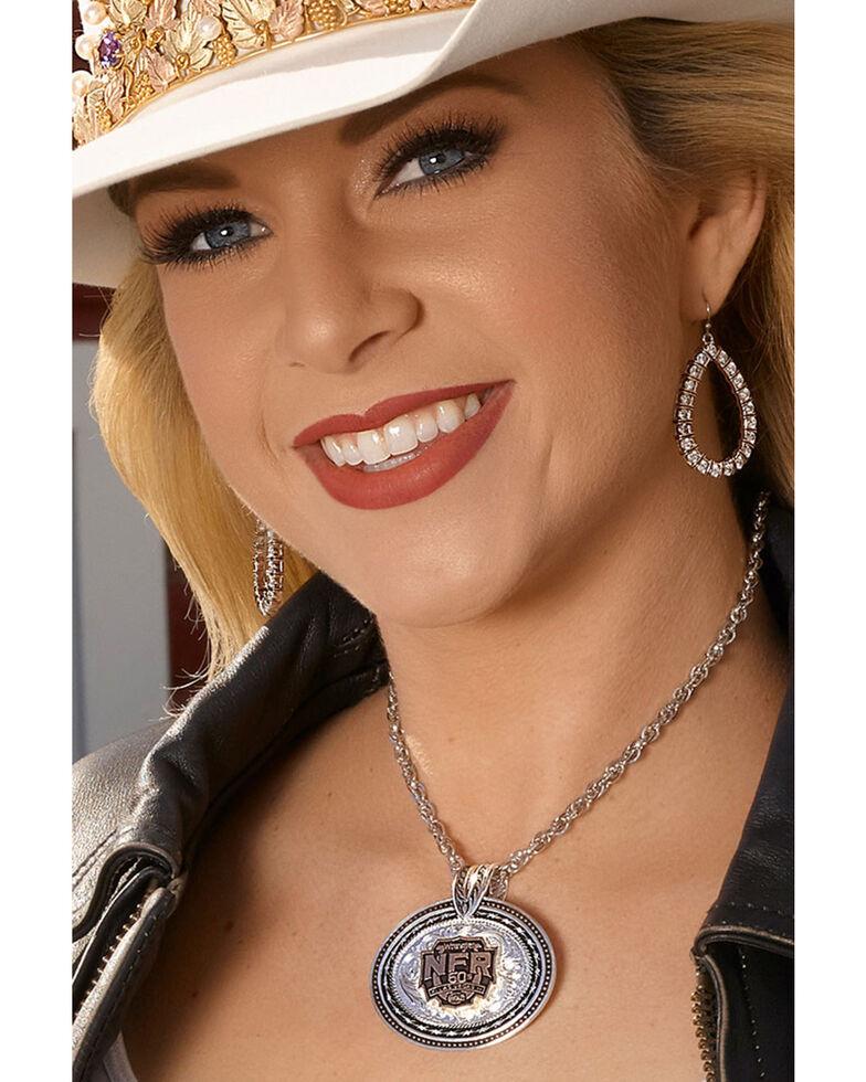 Montana Silversmiths Women's Rose Gold Buck Stitch Teardrop Earrings, Silver, hi-res
