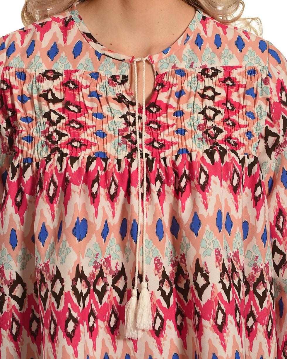 New Direction Sport Women's Pink Southwestern Print Top , Multi, hi-res