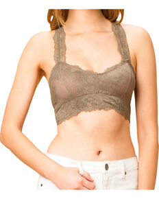 One The Land Women's Scoopneck Bralette, Taupe, hi-res