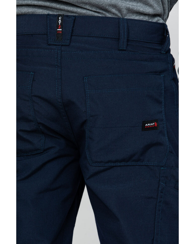 Ariat Men's Navy FR M4 Duralight Ripstop Work Pants , Navy, hi-res