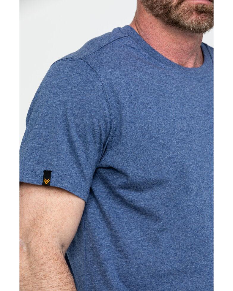 Hawx Men's Pocket Crew Short Sleeve Work T-Shirt - Big , Heather Blue, hi-res