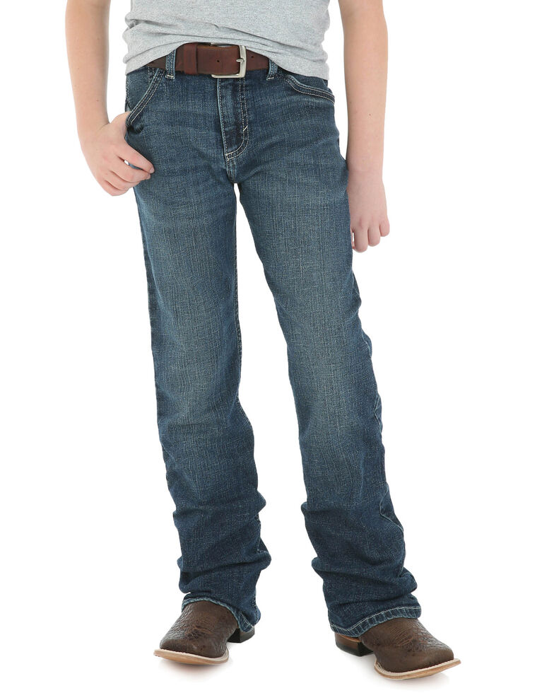 Wrangler 20X Boys' No 42 Clyde Park Vintage Bootcut Jeans , Blue, hi-res