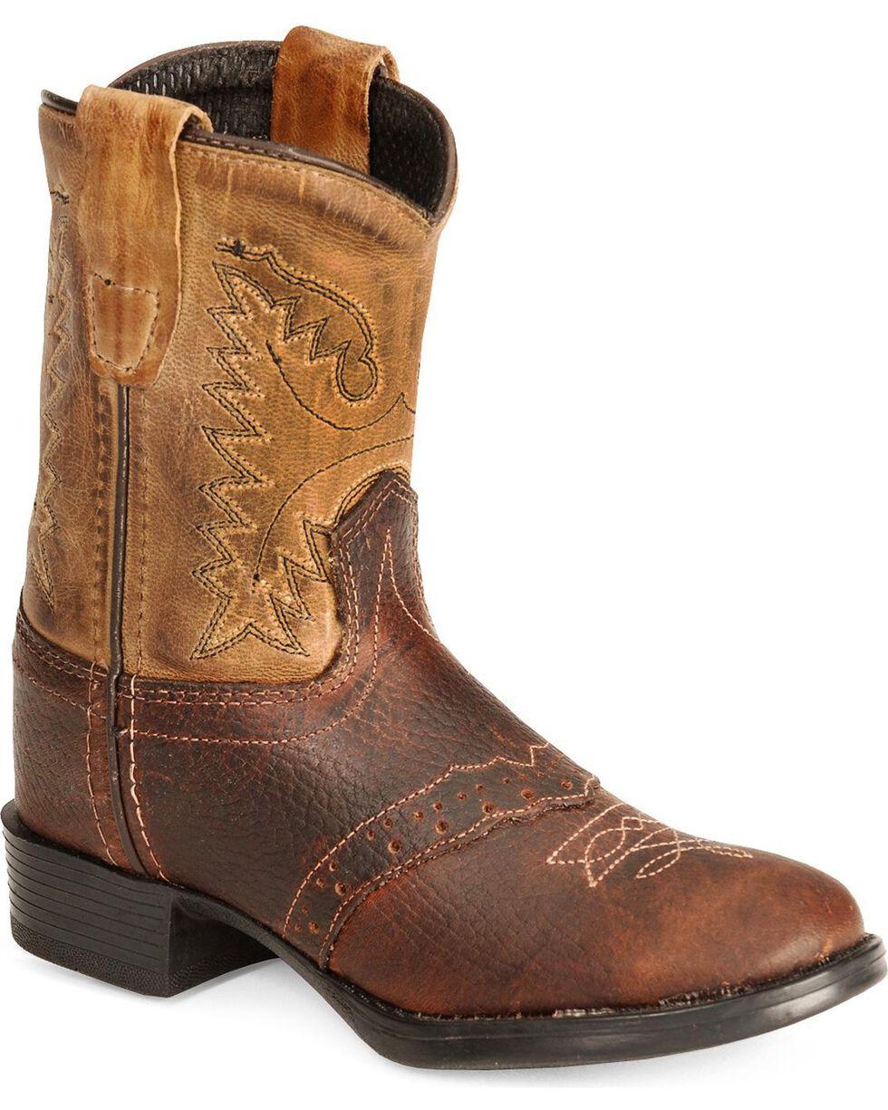 Jama Toddler's Western Boots, Brown, hi-res