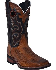 Laredo Men's Western Stockman Boots, Distressed, hi-res