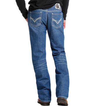 Rock & Roll Cowboy Men's Double Barrel Flame Resistant Boot Cut Jeans, Indigo, hi-res