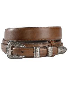 Nocona Leather Billet Overlay Ranger Belt, Brown, hi-res