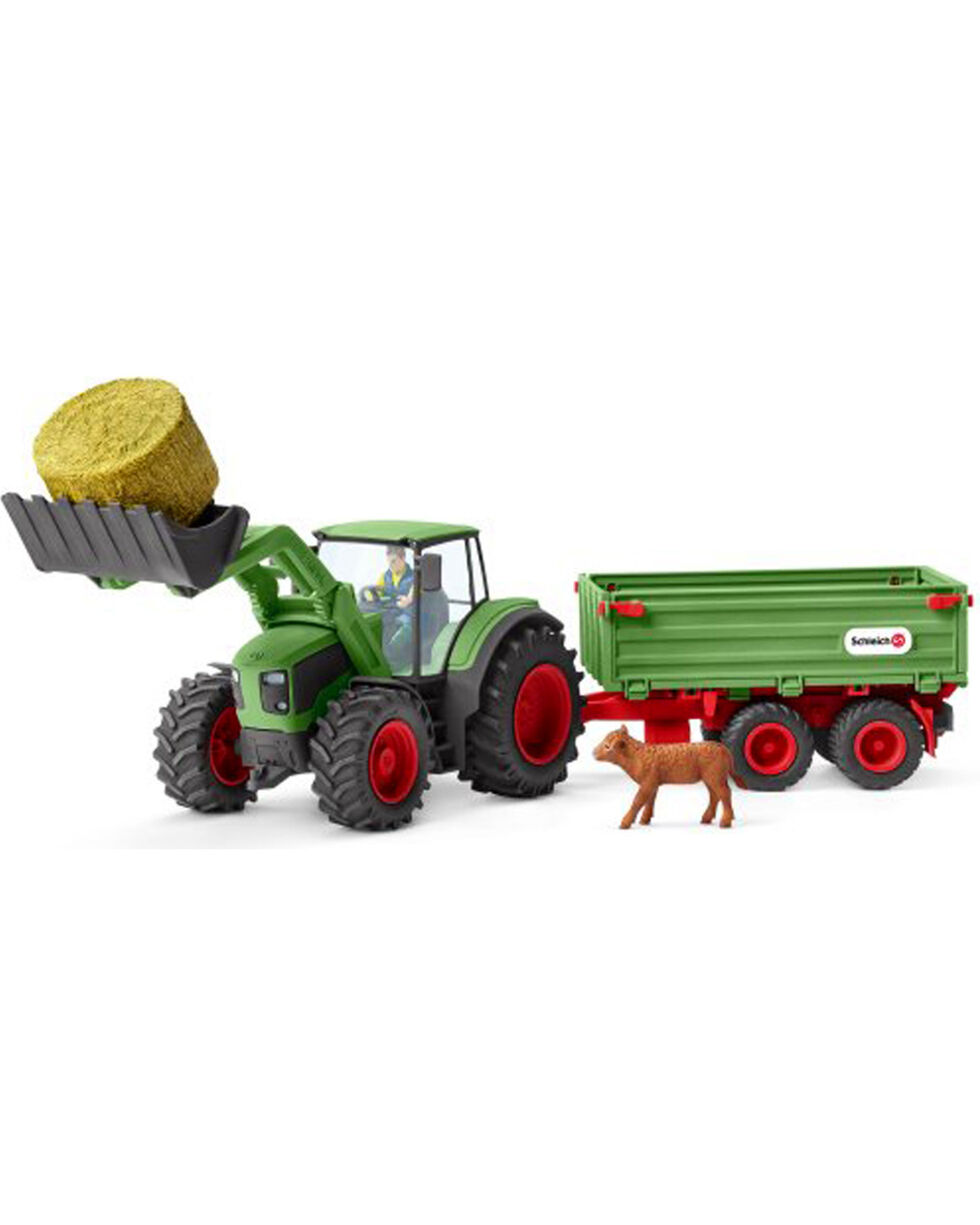 Schleich Tractor With Trailer Set, Green, hi-res