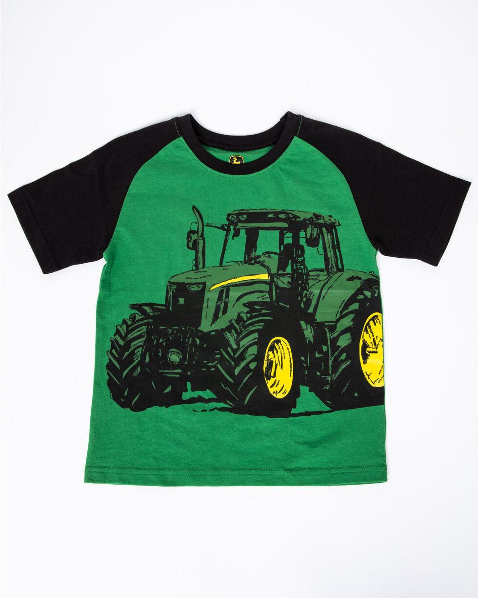 John Deere Boys' Tractor Sketch Graphic T-Shirt , Green, hi-res