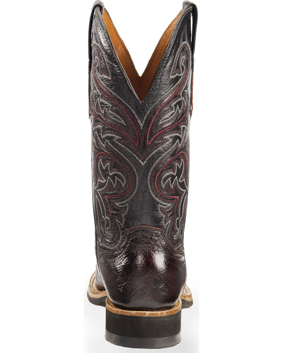 Lucchese Men's Handmade Black Cherry Lance Smooth Ostrich Western Boots - Square Toe , , hi-res