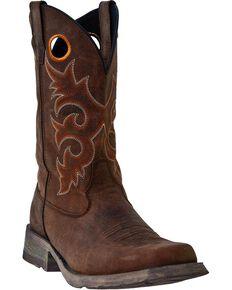 Laredo Prowler Cowboy Boots - Square Toe, Tan, hi-res