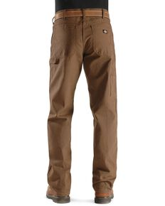 Dickies Relaxed Fit Duck Jeans - Big & Tall, Brown, hi-res