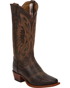 Tony Lama Women's Western Boots, Brown, hi-res