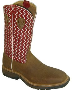Twisted X Men's Steel Toe Western Work Boots, Distressed, hi-res