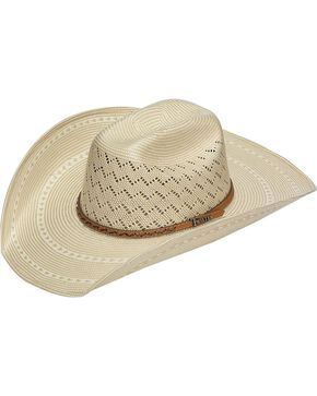 Twister 10X Shantung Maverick Straw Cowboy Hat, Natural, hi-res