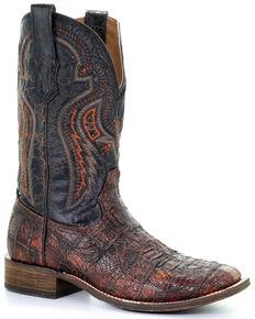 Corral Men's Honey Fuscus Western Boots - Square Toe, Honey, hi-res