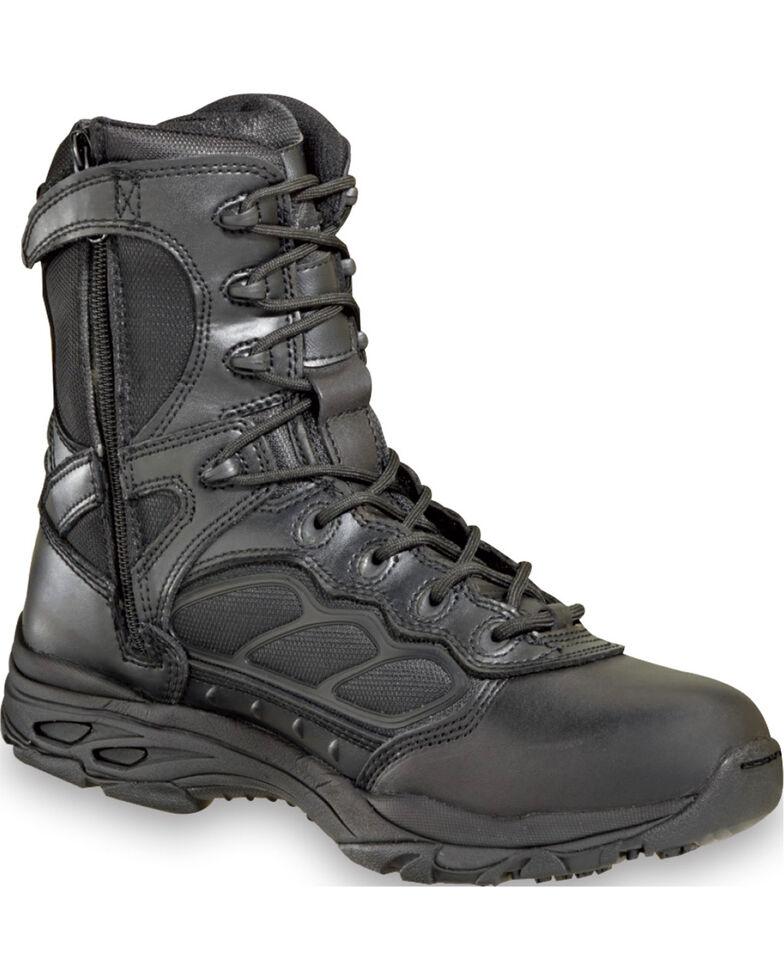 "Thorogood Men's 8"" ASR Ultra Light Side Zip Tactical Boots , Black, hi-res"
