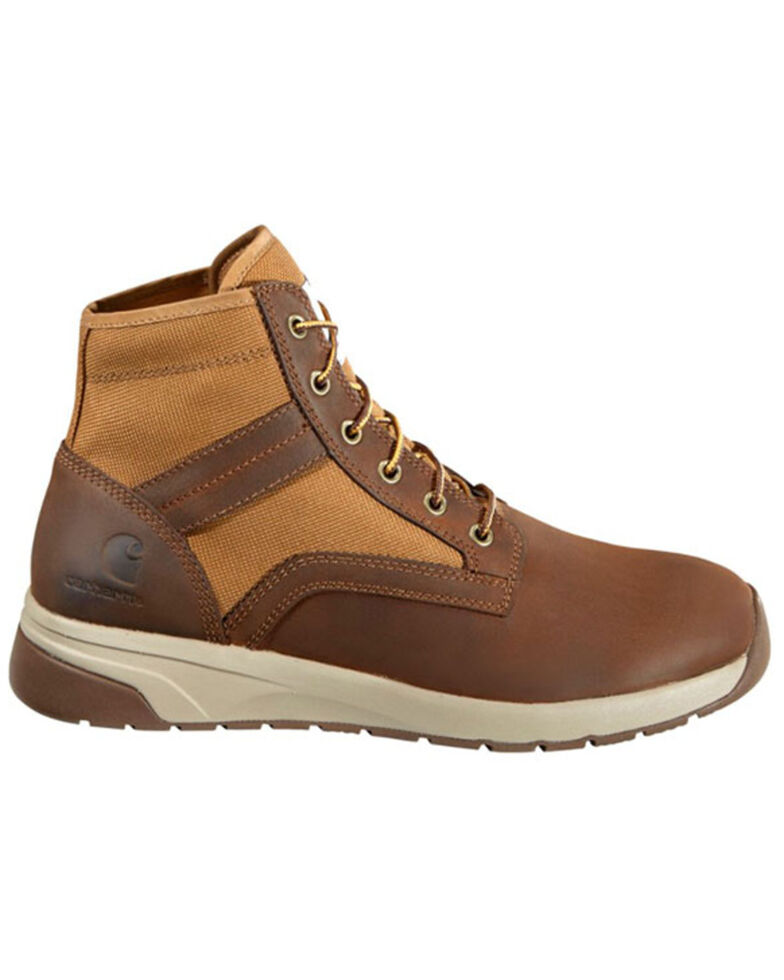Carhartt Men's Brown Lightweight Work Boots - Soft Toe, Brown, hi-res