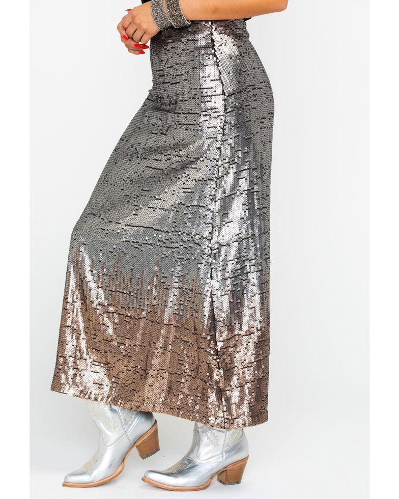 Ariat Women's Glisten Skirt, Gold, hi-res