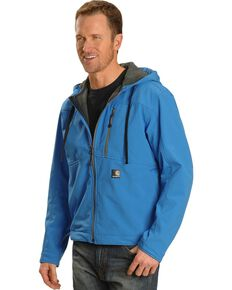 Carhartt Men's Water Resistant Soft Shell Hooded Work Jacket, Blue, hi-res