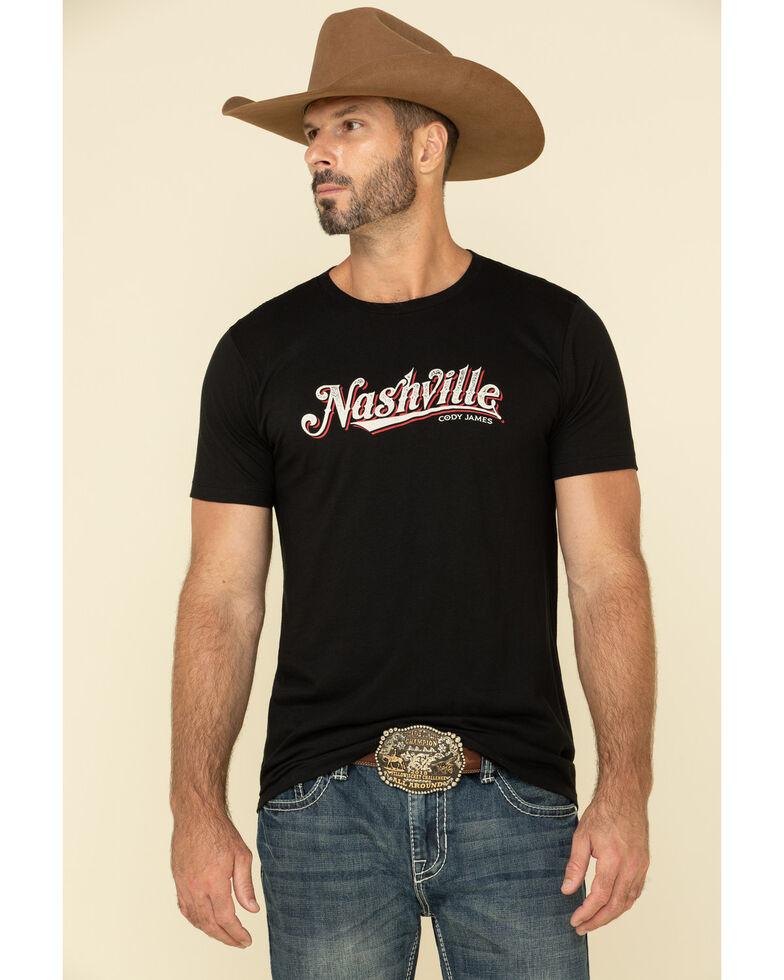 Cody James Men's Nashville Graphic Short Sleeve T-Shirt , Black, hi-res