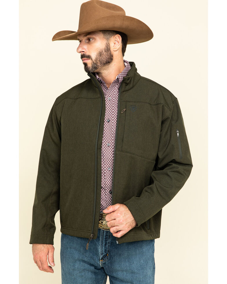 Ariat Men's Olive Heather Vernon 2.0 Softshell Jacket , Green, hi-res